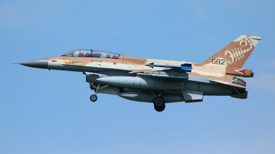 Photo ID 244377 by Sybille Petersen. Israel Air Force General Dynamics F 16D Fighting Falcon, 682