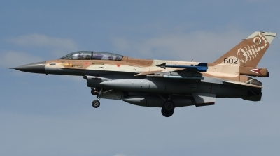 Photo ID 244380 by Hans-Werner Klein. Israel Air Force General Dynamics F 16D Fighting Falcon, 682