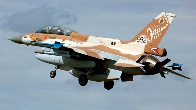 Photo ID 244634 by Carl Brent. Israel Air Force General Dynamics F 16D Fighting Falcon, 682