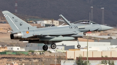 Photo ID 245890 by Adolfo Bento de Urquia. Spain Air Force Eurofighter Typhoon T3, C 16 77 10234