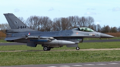 Photo ID 244900 by John. Netherlands Air Force General Dynamics F 16AM Fighting Falcon, J 644