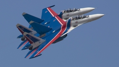 Photo ID 245195 by Lars Kitschke. Russia Air Force Sukhoi Su 30SM Flanker, RF 81702