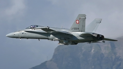 Photo ID 245263 by Sybille Petersen. Switzerland Air Force McDonnell Douglas F A 18C Hornet, J 5024