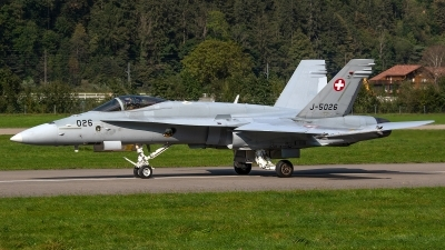Photo ID 245351 by Bruno Geiger - Aviation Media. Switzerland Air Force McDonnell Douglas F A 18C Hornet, J 5026