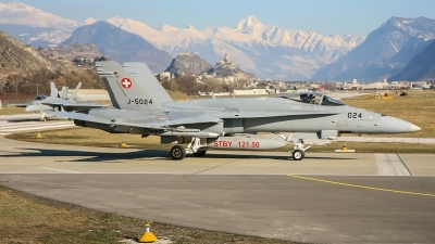 Photo ID 245470 by Lars Kitschke. Switzerland Air Force McDonnell Douglas F A 18C Hornet, J 5024