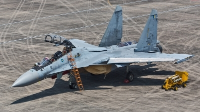 Photo ID 245532 by Lars Kitschke. Malaysia Air Force Sukhoi Su 30MKM Flanker, M52 11