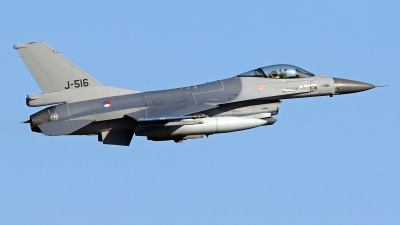 Photo ID 245990 by Richard de Groot. Netherlands Air Force General Dynamics F 16AM Fighting Falcon, J 516