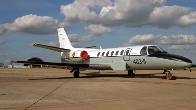 Photo ID 245967 by Peter Fothergill. Spain Air Force Cessna 560 Citation V, TR 20 01
