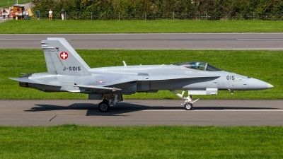 Photo ID 247351 by Bruno Geiger - Aviation Media. Switzerland Air Force McDonnell Douglas F A 18C Hornet, J 5015