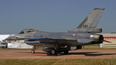 Photo ID 246221 by Peter Fothergill. Netherlands Air Force General Dynamics F 16AM Fighting Falcon, J 061