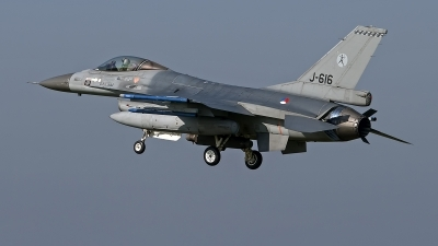 Photo ID 246438 by Niels Roman / VORTEX-images. Netherlands Air Force General Dynamics F 16AM Fighting Falcon, J 616