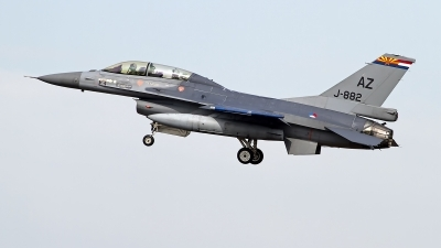 Photo ID 246448 by Niels Roman / VORTEX-images. Netherlands Air Force General Dynamics F 16BM Fighting Falcon, J 882