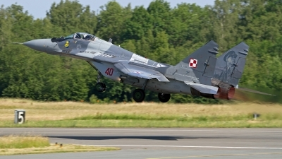 Photo ID 246495 by Niels Roman / VORTEX-images. Poland Air Force Mikoyan Gurevich MiG 29M 9 15, 40