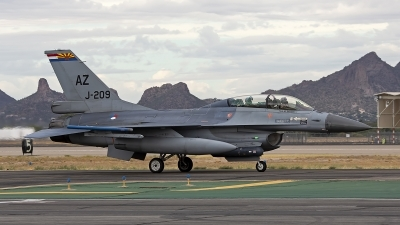 Photo ID 246549 by Niels Roman / VORTEX-images. Netherlands Air Force General Dynamics F 16BM Fighting Falcon, J 209