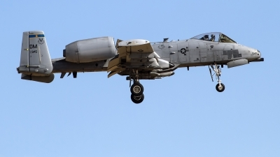 Photo ID 247271 by Niels Roman / VORTEX-images. USA Air Force Fairchild A 10C Thunderbolt II, 81 0945