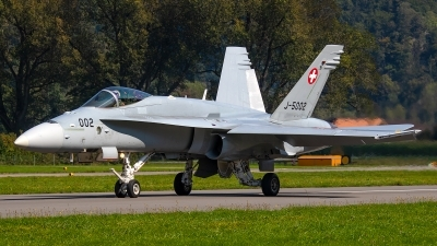 Photo ID 246887 by Bruno Geiger - Aviation Media. Switzerland Air Force McDonnell Douglas F A 18C Hornet, J 5002