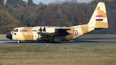 Photo ID 247133 by Sybille Petersen. Egypt Air Force Lockheed C 130H Hercules L 382, SU BAS