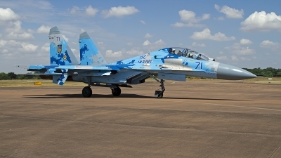 Photo ID 249118 by Niels Roman / VORTEX-images. Ukraine Air Force Sukhoi Su 27UB1M, B 1831M1