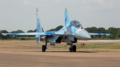 Photo ID 249119 by Niels Roman / VORTEX-images. Ukraine Air Force Sukhoi Su 27UB1M, B 1831M1