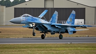 Photo ID 247780 by Niels Roman / VORTEX-images. Ukraine Air Force Sukhoi Su 27P1M,