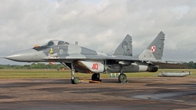 Photo ID 247911 by Peter Fothergill. Poland Air Force Mikoyan Gurevich MiG 29M 9 15, 40