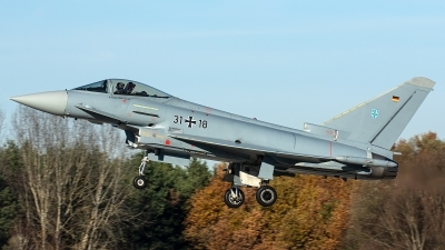 Photo ID 247990 by Thomas Ziegler - Aviation-Media. Germany Air Force Eurofighter EF 2000 Typhoon S, 31 18