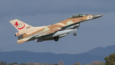 Photo ID 248348 by Nikos A. Ziros. Israel Air Force General Dynamics F 16C Fighting Falcon, 345