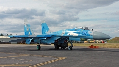 Photo ID 248555 by Peter Fothergill. Ukraine Air Force Sukhoi Su 27P1M,