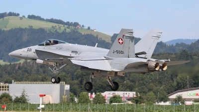 Photo ID 248926 by Ludwig Isch. Switzerland Air Force McDonnell Douglas F A 18C Hornet, J 5001
