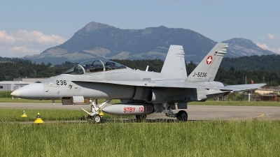 Photo ID 248946 by Ludwig Isch. Switzerland Air Force McDonnell Douglas F A 18D Hornet, J 5236