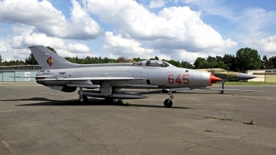 Photo ID 249074 by Carl Brent. East Germany Air Force Mikoyan Gurevich MiG 21F 13, 645