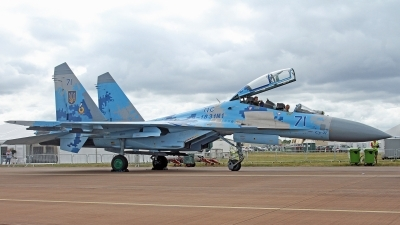 Photo ID 249111 by Peter Fothergill. Ukraine Air Force Sukhoi Su 27UB1M, B 1831M1