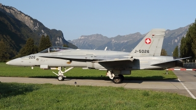 Photo ID 249607 by Ludwig Isch. Switzerland Air Force McDonnell Douglas F A 18C Hornet, J 5026