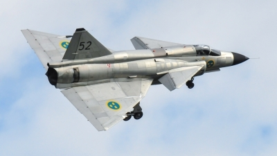 Photo ID 249729 by Frank Deutschland. Private Swedish Air Force Historic Flight Saab AJS37 Viggen, SE DXN