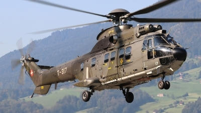 Photo ID 250051 by Ludwig Isch. Switzerland Air Force Aerospatiale AS 332M1 Super Puma, T 317