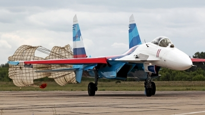 Photo ID 250378 by Carl Brent. Russia Air Force Sukhoi Su 27, 11 RED