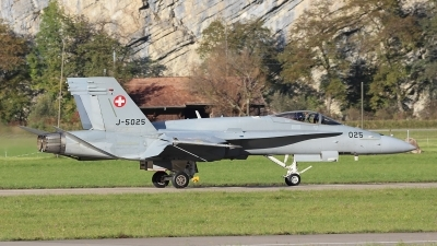 Photo ID 250573 by Ludwig Isch. Switzerland Air Force McDonnell Douglas F A 18C Hornet, J 5025