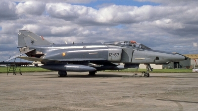 Photo ID 252281 by Peter Fothergill. Spain Air Force McDonnell Douglas RF 4C Phantom II, CR 12 58