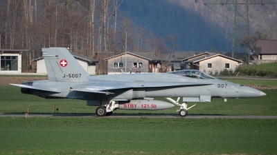 Photo ID 252806 by Luca Fahrni. Switzerland Air Force McDonnell Douglas F A 18C Hornet, J 5007