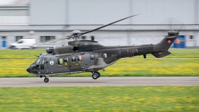Photo ID 252836 by Reto Gadola. Switzerland Air Force Aerospatiale AS 332M1 Super Puma, T 315
