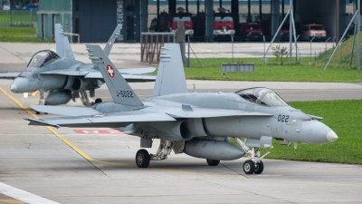 Photo ID 253128 by Tonnie Musila. Switzerland Air Force McDonnell Douglas F A 18C Hornet, J 5022