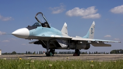 Photo ID 28343 by Chris Lofting. Ukraine Air Force Mikoyan Gurevich MiG 29 9 13, 35 WHITE