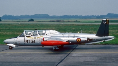Photo ID 28419 by Eric Tammer. Belgium Air Force Fouga CM 170R Magister, MT 34