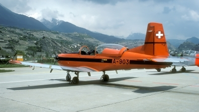 Photo ID 30568 by Joop de Groot. Switzerland Air Force Pilatus PC 7 Turbo Trainer, A 903