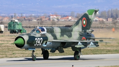 Photo ID 30974 by Anton Balakchiev. Bulgaria Air Force Mikoyan Gurevich MiG 21bis, 392