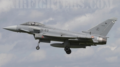 Photo ID 3634 by James Shelbourn. Spain Air Force Eurofighter C 16 Typhoon EF 2000S, C 16 23