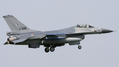 Photo ID 34591 by Walter Van Bel. Netherlands Air Force General Dynamics F 16AM Fighting Falcon, J 516