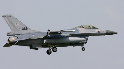 Photo ID 34592 by Walter Van Bel. Netherlands Air Force General Dynamics F 16AM Fighting Falcon, J 868