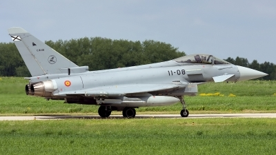 Photo ID 34595 by Rainer Mueller. Spain Air Force Eurofighter C 16 Typhoon EF 2000, C 16 28