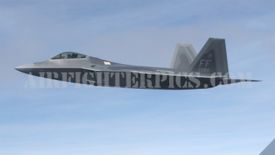 Photo ID 414 by Karl Drage. USA Air Force Lockheed Martin F 22A Raptor, 04 4080